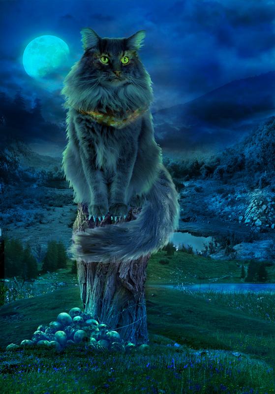 Кота баюн рисунки