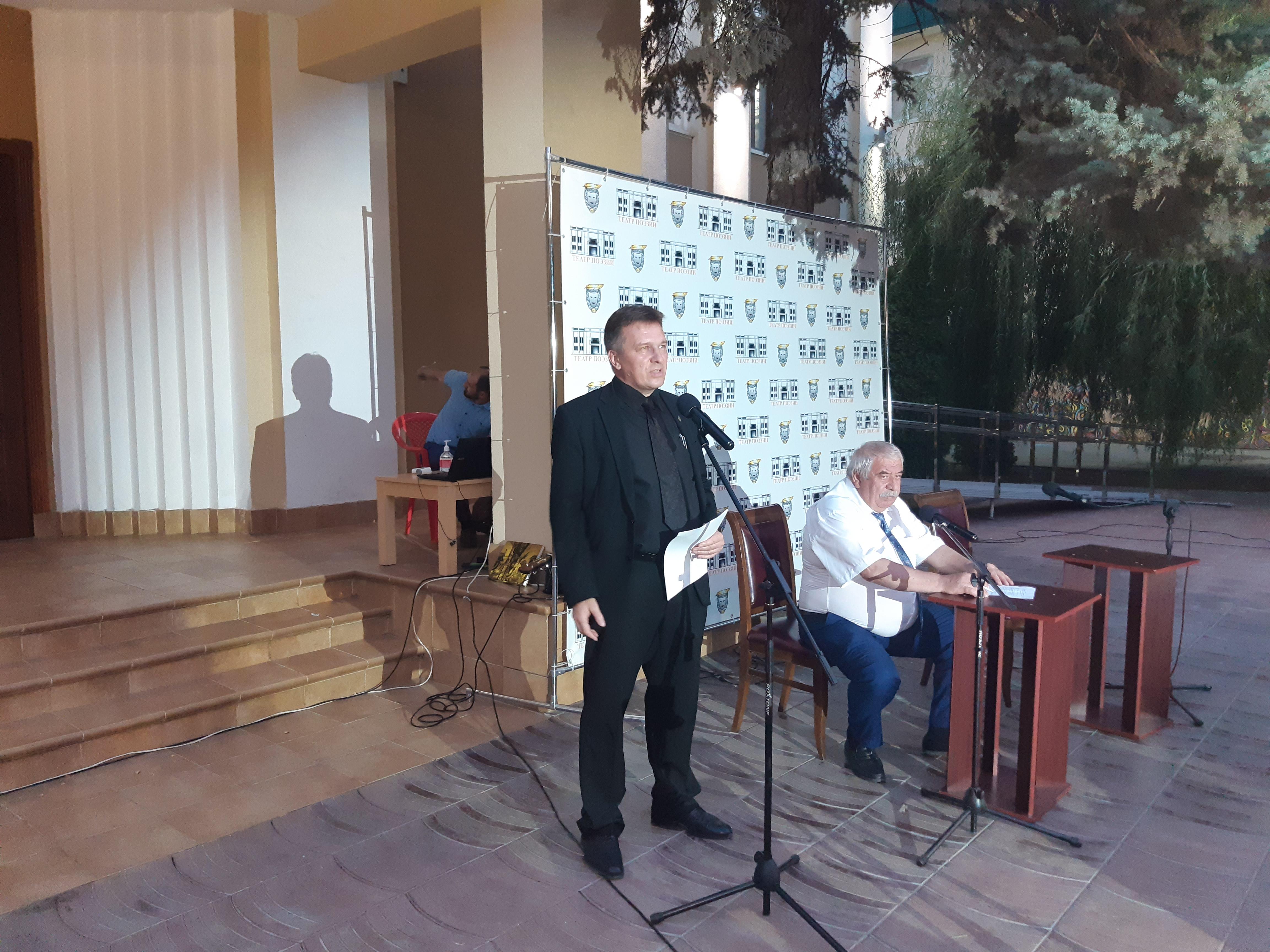 Выступление в Театре поэзии, Иван Голубничий и Магомед Ахмедов