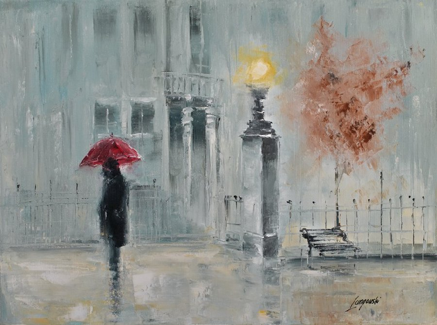 Декупаж картинки дождь