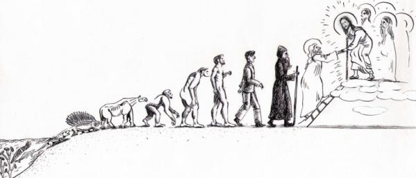 Рис.5. Эволюция биологической жизни завершается святостью и рождением новых Небожителей.
