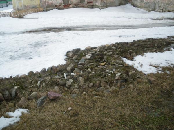 фундамент древнего Борисоглебского собора