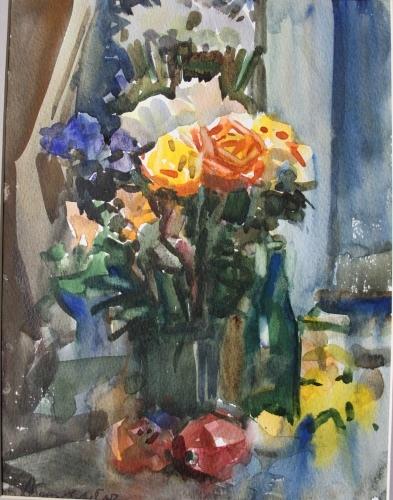 Михаил Абакумов. Жёлтые розы
