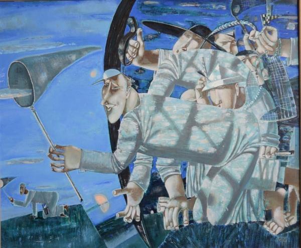 Горшунов Владимир Николаевич 1955 Ловцы. 2007, холст. масло. 90х105 см
