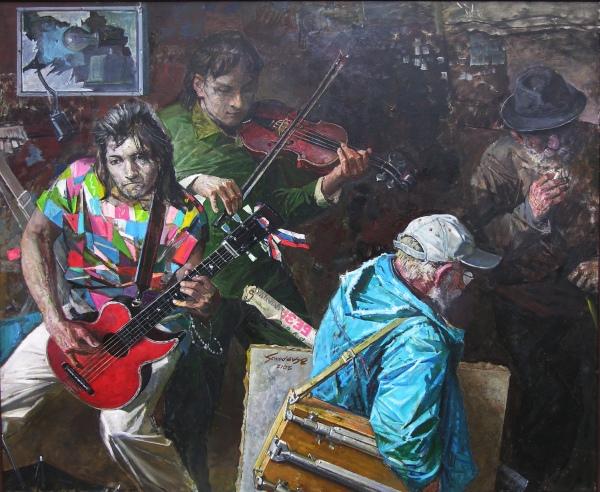 Сафронов Виктор Алексеевич 1932 В  подземном переходе 2012 двп. м. 120 х 135