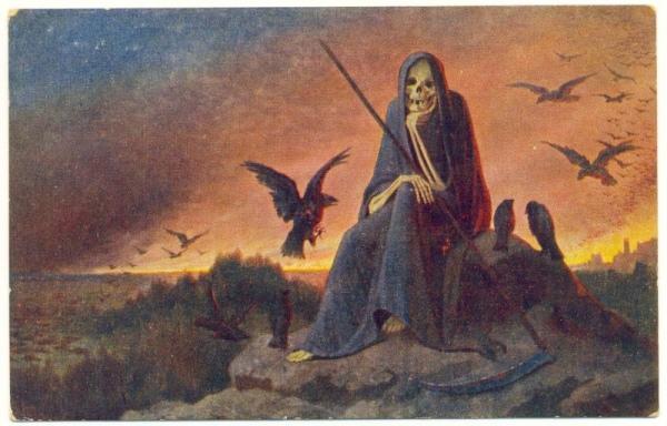 «Устала!». Картина художника П.К. Венига. Почтовая открытка 1916 г. (дозволена военною цензурою 29 марта 1916 г.).