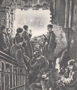 На командном пункте дивизии Людникова