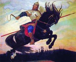 """В.М. Васнецов """"Богатырский скок"""", 1914 г."""
