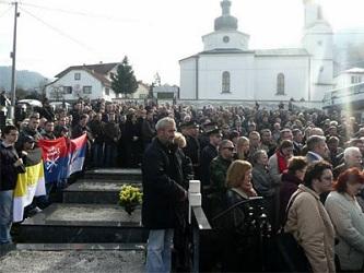 Открытие памятника русским добровольцам в Вышеграде на военном кладбище. 2011 г.