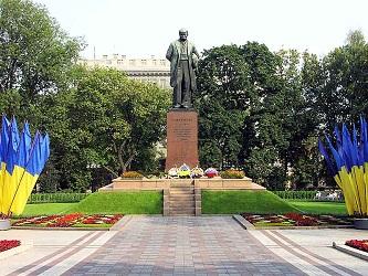 Памятник Т.Г. Шевченко в Киеве.