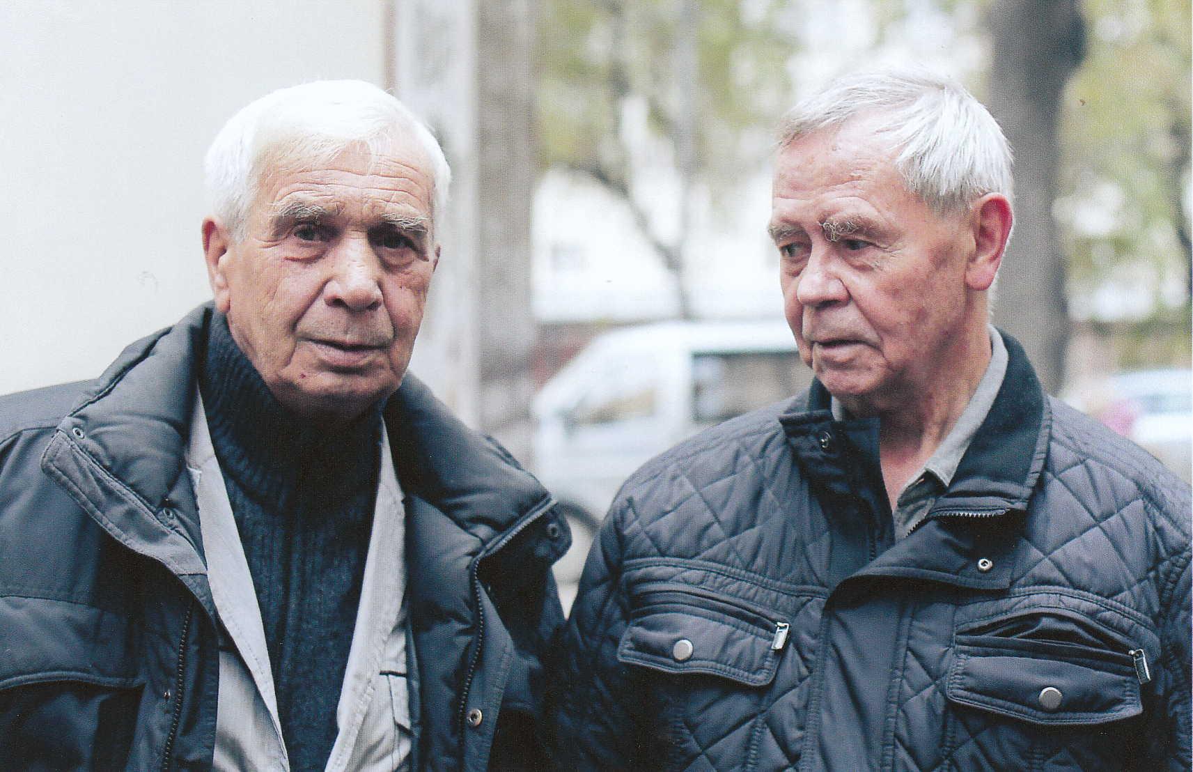 Эдуард Константинович Анашкин с Валентином Григорьевичем Распутиным - Иркутск октябрь 2013 года